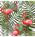 tropical modern seamless pattern with pink vector image