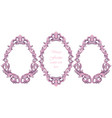vintage baroque pink frame decor detailed vector image vector image