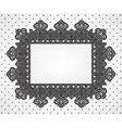 vintage frame on dot pattern vector image
