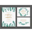 Vintage wedding set with greenery vector image vector image