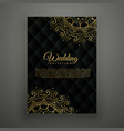wedding card design in mandala style vector image vector image