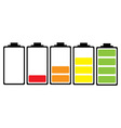 simple illustrated battery icon vector image