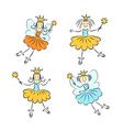 Fairy princess with a magic wand set vector image