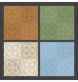 4 colors antique patterns vector image vector image