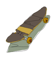 A skatesboard is placedA skatesboard is placed vector image vector image