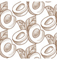 abstract fruit monochrome seamless pattern vector image vector image