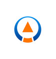 arrow abstract round technology logo vector image vector image