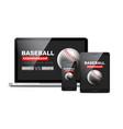 baseball flyer mobile screen design game vector image