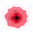 Beautiful poppy flower sign for beauty services vector image vector image