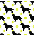 black retriever dog seamless pattern vector image vector image