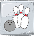 bowling sports theme vector image vector image