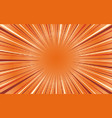 bright orange exploding retro comic background vector image