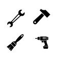 builder repair tools simple related icons vector image