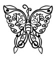 butterfly drawing on white background vector image vector image