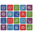 collection rounded square dotted icons sport vector image vector image