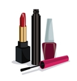 cosmetics various tools fe vector image