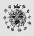 covid19-19 continuous line symbol concept vector image vector image