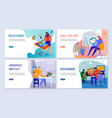 creative professions banners vector image vector image