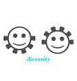 diversity between humans metaphor vector image