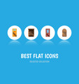 flat icon approach set of wooden fence saloon vector image vector image