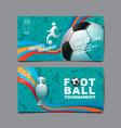 football tournament sport layout design soccer vector image