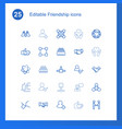 friendship icons vector image vector image