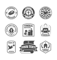 Funeral labels icons set vector image vector image