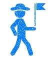 Gentleman Flag Guide Grainy Texture Icon vector image vector image