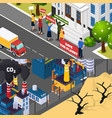 global warming isometric banners vector image