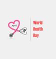globe sign and stethoscope logo design vector image