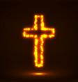 glowing cross christian symbol vector image vector image