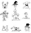 Halloween ghost character in doodle vector image vector image
