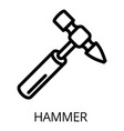 hammer icon outline style vector image