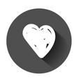 hand drawn hearts icon love sketch doodle heart vector image