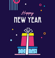 happy new year- 2021 collection greeting vector image vector image
