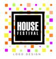 house festival logo design template creative vector image