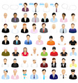 icons of people vector image vector image