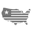 independence day usa map icon monochrome vector image vector image