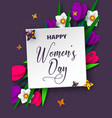 international womens day poster vector image vector image