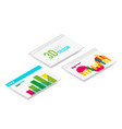isometric 3d user interface design vector image