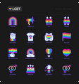 lgbt thin line icons set vector image vector image