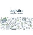 Logistics banner vector image vector image