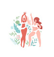 love your body with two vector image