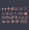 memphis graphic elements funky geometric vector image