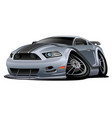 modern american muscle car cartoon vector image vector image