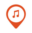 music icon location vector image