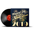 new year vinyl record vector image