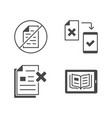 paperless flat glyph icons vector image vector image