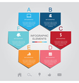 pentagon infographic elements vector image