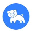 Pig black icon for web and mobile vector image vector image